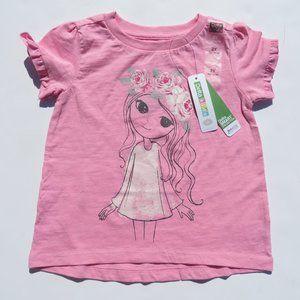 Girls t-shirt 2 Y Pink Delta Kids 100% Cotton NEW